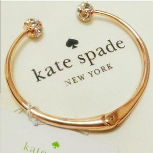 BNWT Authentic Kate Spade Rose Gold Cuff Bracelet